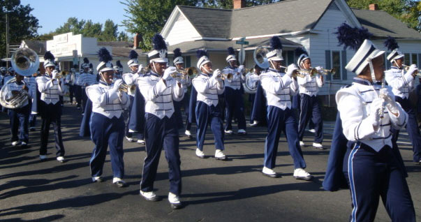 The Hillside High School marching band