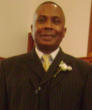 Rev. Dr. David Mitchell after preaching Sunday