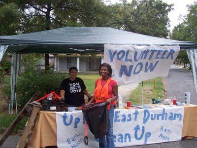 Caption: East Durham neighbors gather for the annual clean-up. Photo courtesy of Uplift East Durham.