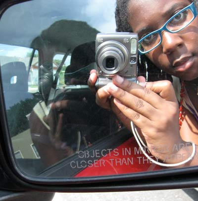 Teen Editor Zenzele Barnes' self portrait.