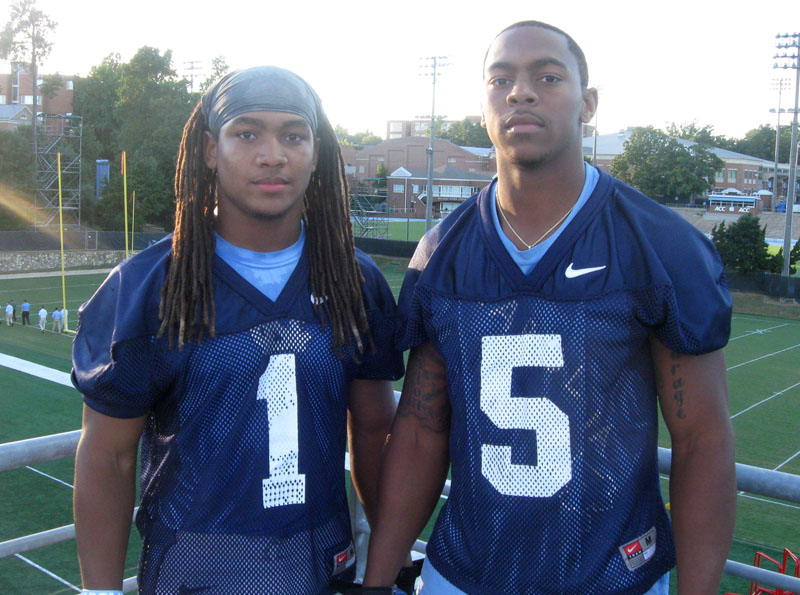 Running back Khris Francis played at Hillside High School for four years before committing to play at UNC, where he is now a freshman.   Thorpe photo caption   UNC wide receiver T.J. Thorpe is a native of Georgia but moved to Durham when he was 10 years old. He played at Jordan High School.
