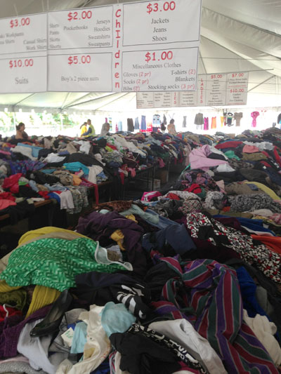 TROSA: Anyone looking for good deal on clothing would not be disappointed after visiting the TROSA yard sale. Photo by Antwone Price.