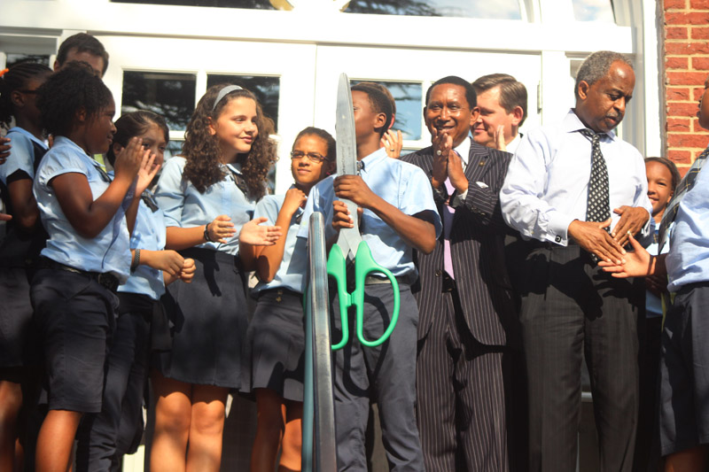East Durham was formally introduced to the new Maureen Joy building by the charter school's scholars. Photo by Alex Sampson.
