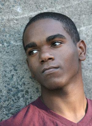 Sharif Ruebin, Teen Editor-in-Chief, the Durham VOICE. (Staff photo by Carlton Koonce)