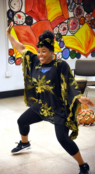 LeBrandi Johnson dancing. (Staff photo by Madison Walls)